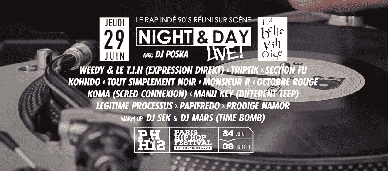 image soirée événement Night & Day Live ! 2017 du paris Hip Hop Festival
