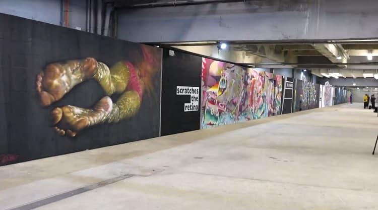 image expo street art quai de seine