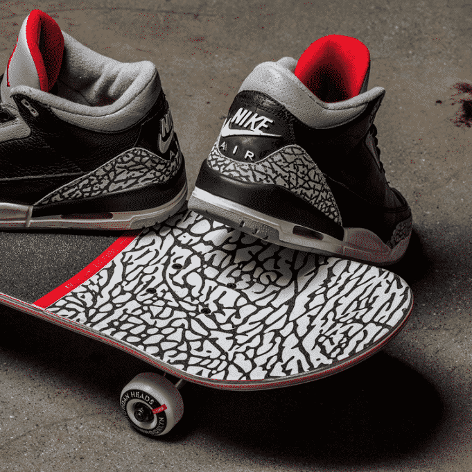 image air jordan 3 og black cement