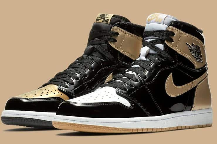 image air jordan 1 top 3 gold black white