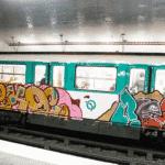 Le métro Parisien est pris d'assaut par les graffeur!