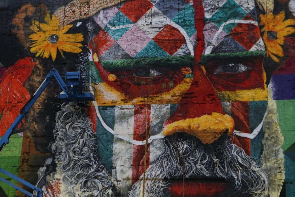 image graffiti kobra artiste brésilien
