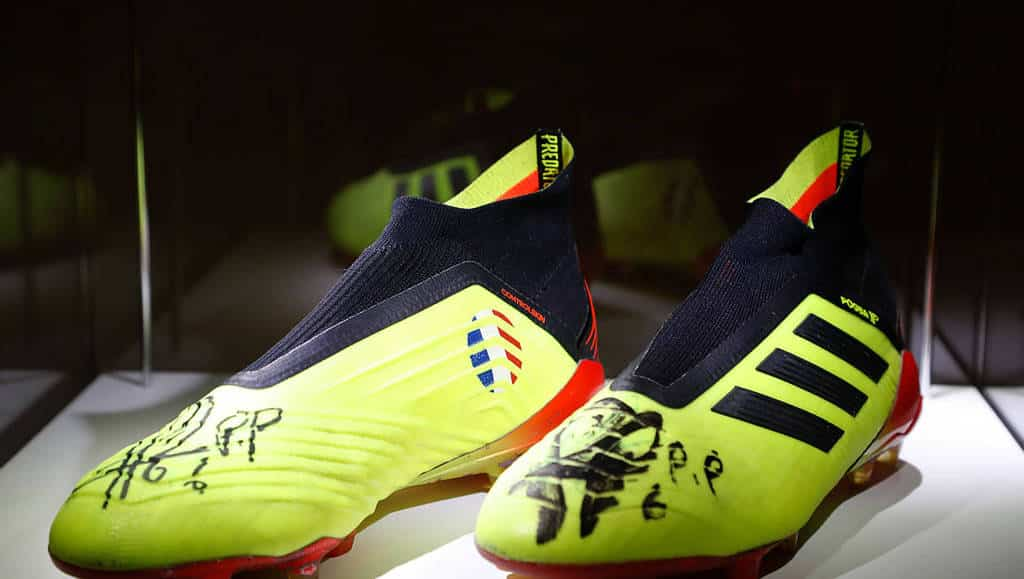 Image Crampons paul pogba 37500 euros association