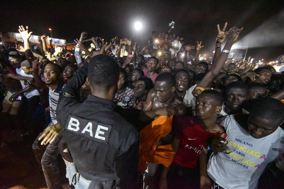 Image émeute concert Kaaris Abidjan