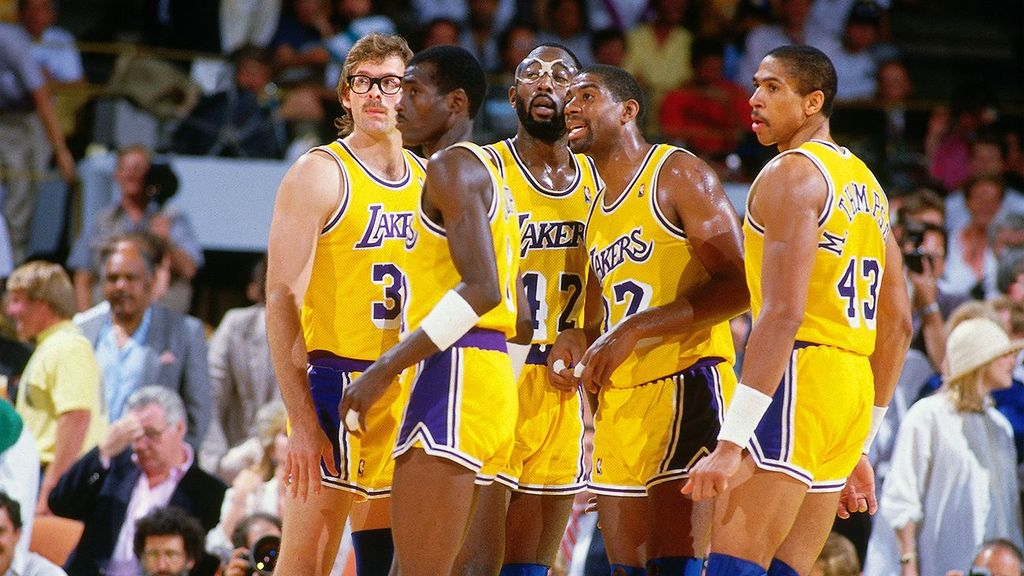image lakers showtime magic johnson