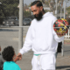 image nipsey hussle basketball with kids