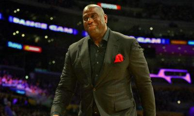 image magic johnson demission Lakers