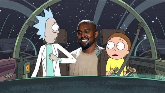 Image Kanye West Rick and Morty