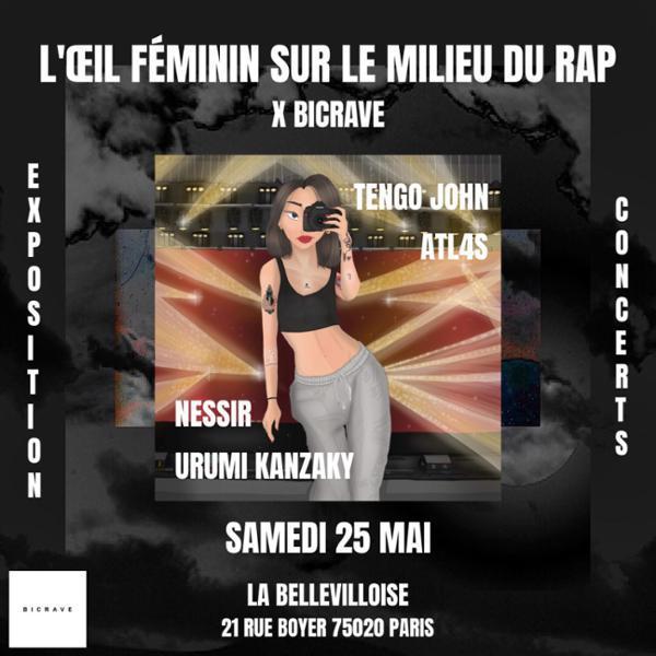 Image L'oeil féminin sur le milieu du rap