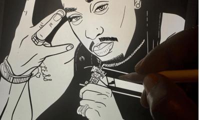 image tupac livre à colorier