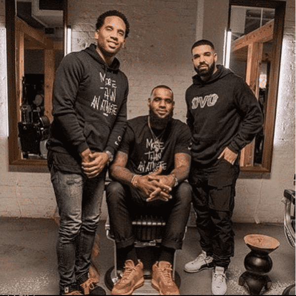 Image lebron james x drake x maverick carter