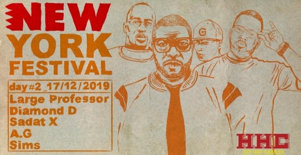 New York Fest 2019 avec Large Professor, Diamond D