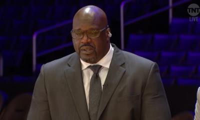 Shaq en pleur mémoire Kobe