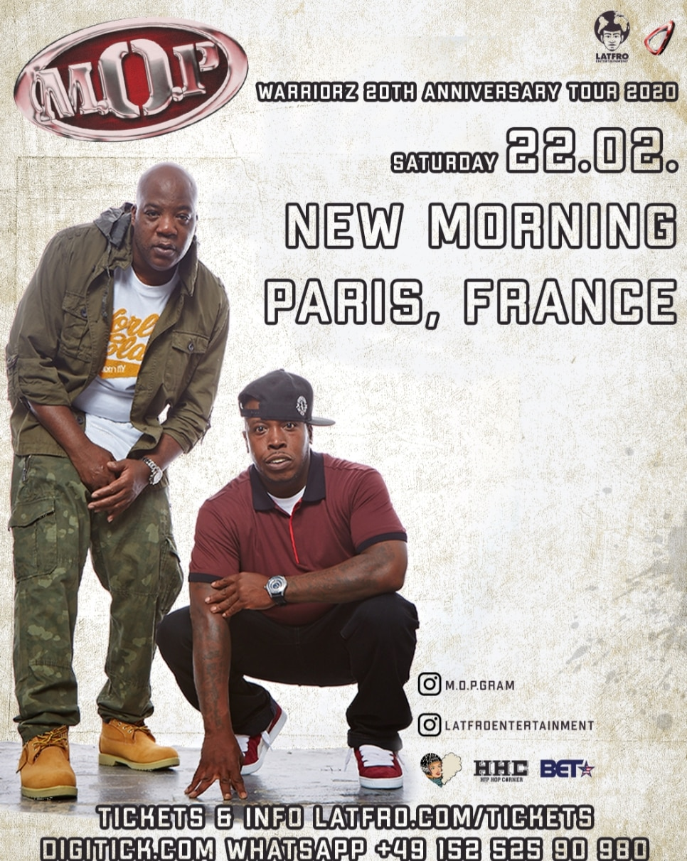 M.O.P concert New Morning Paris 2020
