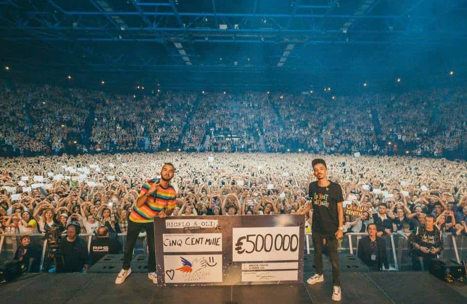 Bigflo & Oli Secours Populaire don 500 000