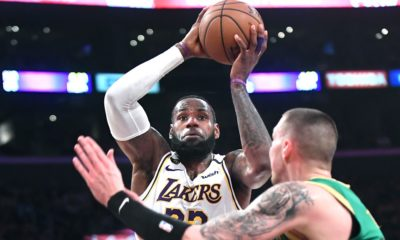 LeBron James clutch match Lakers Celtics