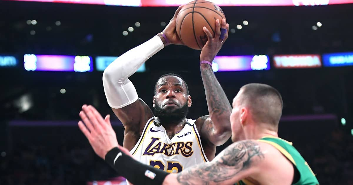 LeBron James clutch match Lakers Celtics