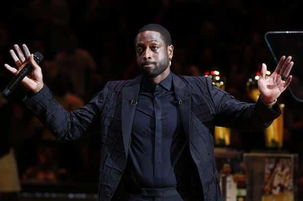 Dwayne Wade cérémonie retrait maillot