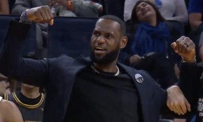 LeBron James fait le show depuis le banc