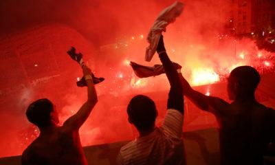 PSG - Dormund supporters ultras en folie