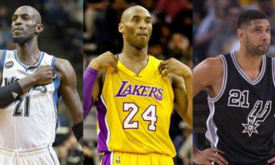 Kobe Bryant Ti Duncan Kevin Garnett Hall of Fame 2020 NBA