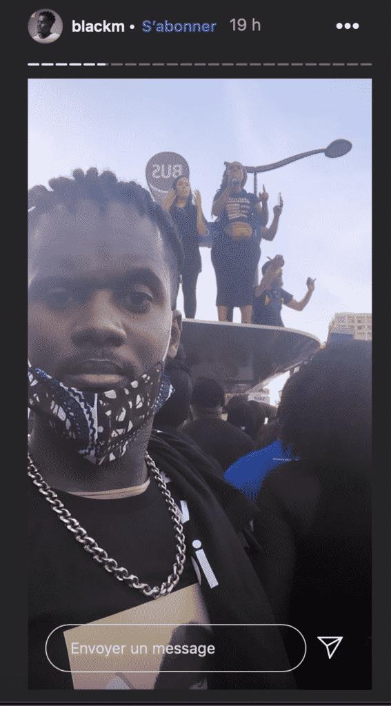 """Black M à la manifestation """"Justice pour Adama"""""""