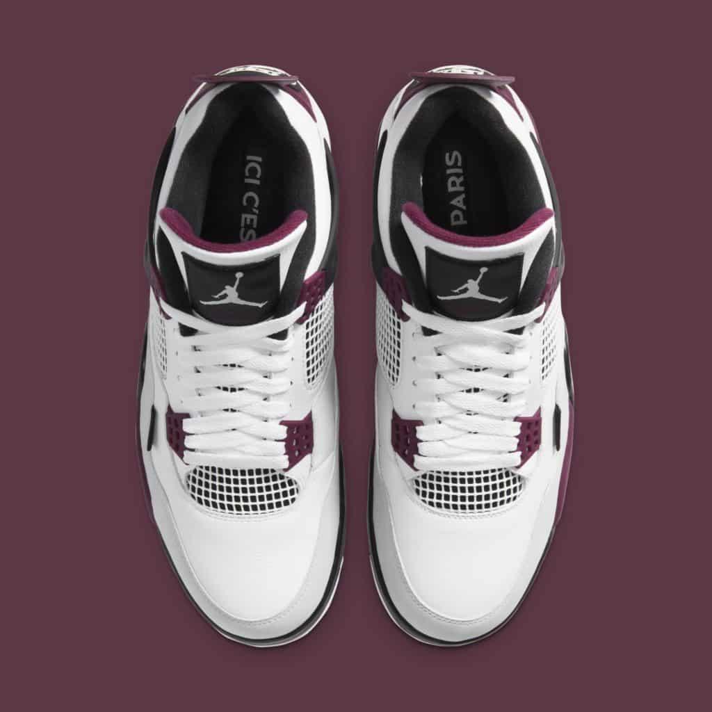 La Jordan 4 x PSG du dessus