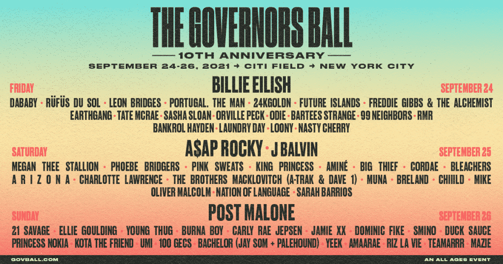 programme governors ball 2021