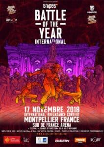 affiche battle of the year international 2018 montpellier