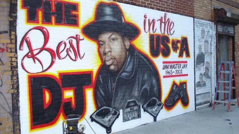 image jam master jay hip hop dj graff