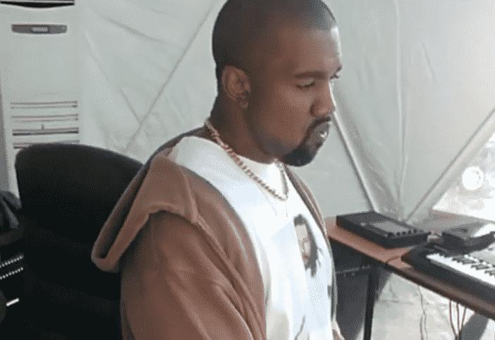image kanye west in undanda studio arfika
