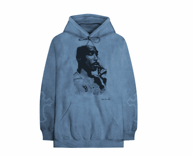 hoodie blue tupac collection greatest hits