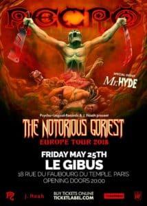 [JEU CONCOURS] Necro en concert au Gibus Club de Paris !