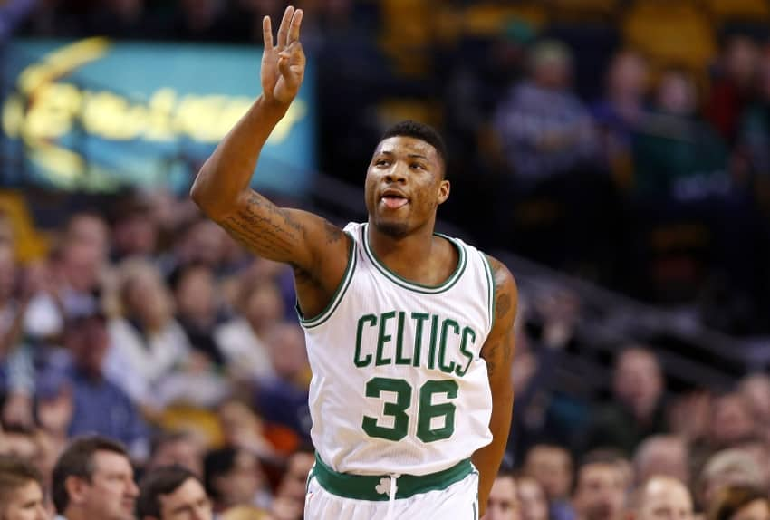 marcus smart image célébration boston celtics