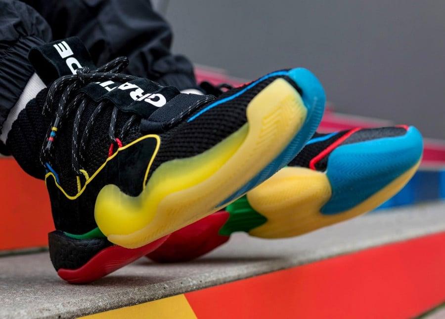 Pharrell Williams x Adidas Crazy BYW LVL X HU Black Multicolor image 6