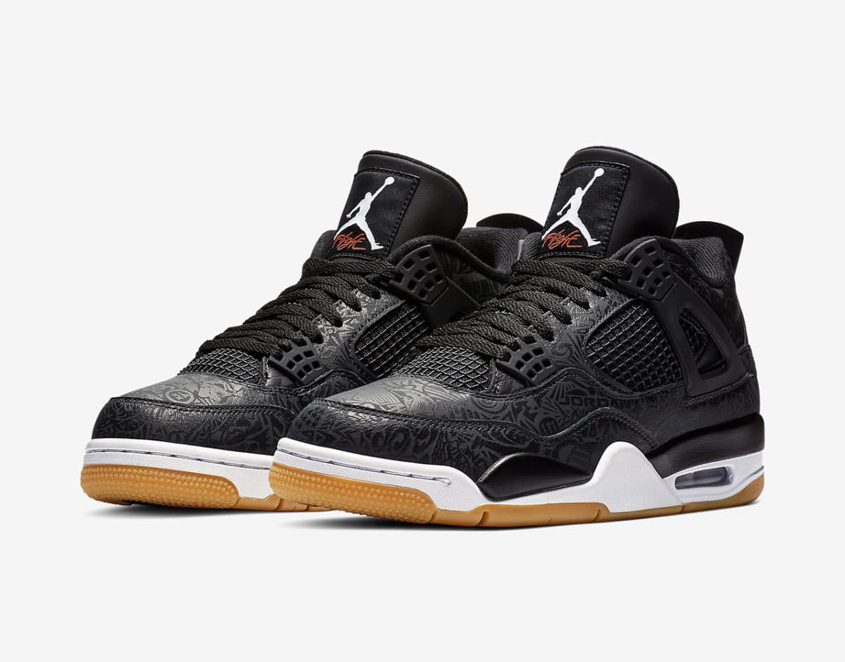 AIR JORDAN 4 black laser image 1