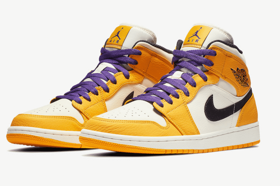 image air jordan 1 mid lakers 1