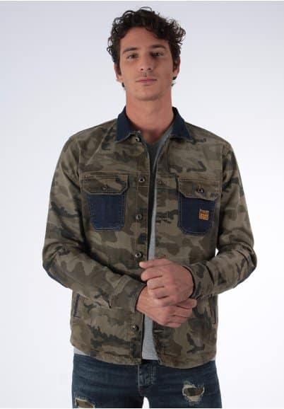image veste en jean couflage Kaporal