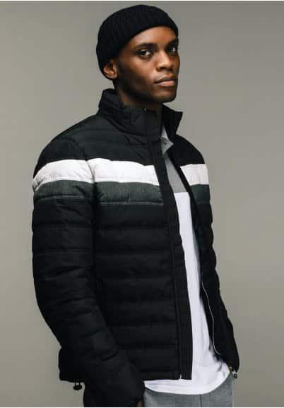 image veste homme mi-saison noire kaporal