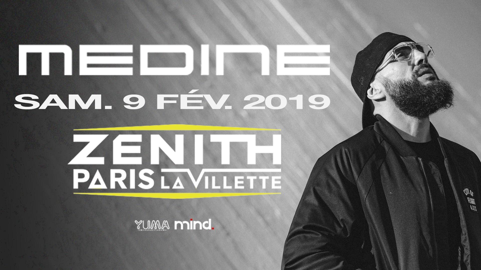 image concert medine zénith paris 9 février