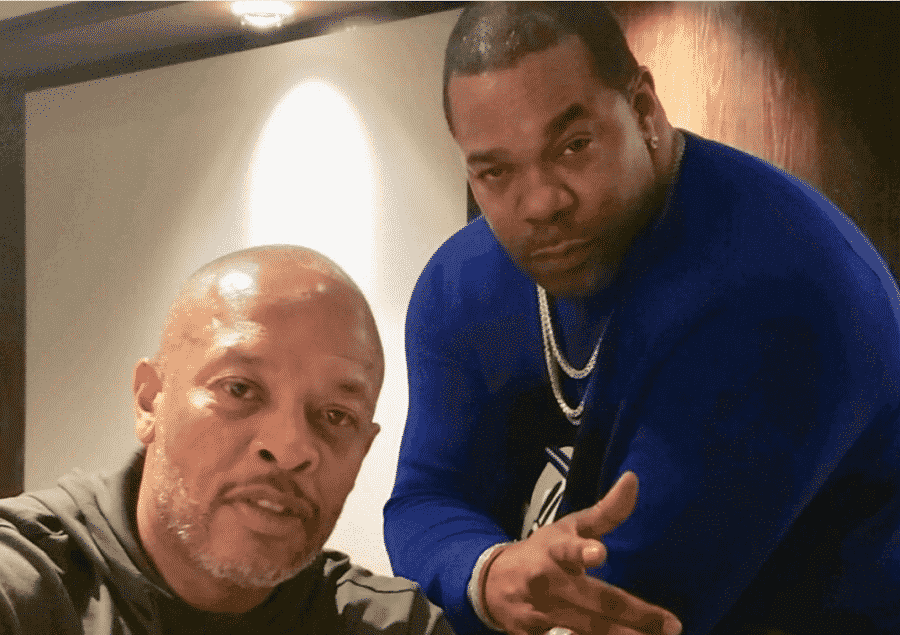 image busta rhymes dr dre in studio 2019
