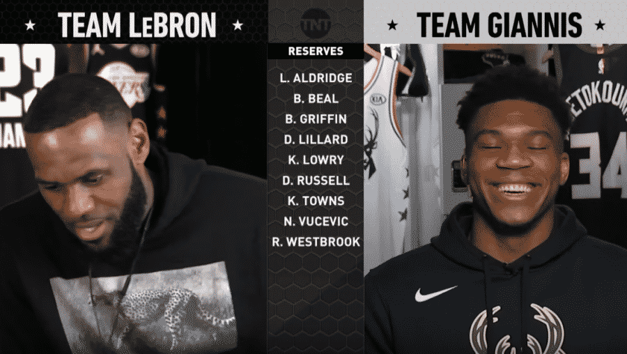 image lebron giannis all star game draft 2019