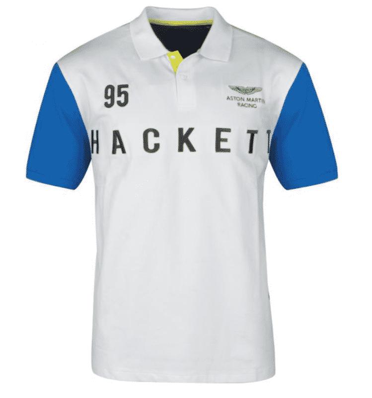 image polo hackette blanc bleu size factory