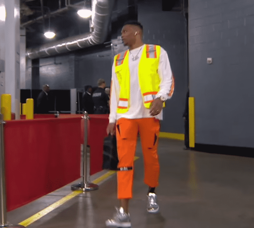 image russell westbrook gilet jaune